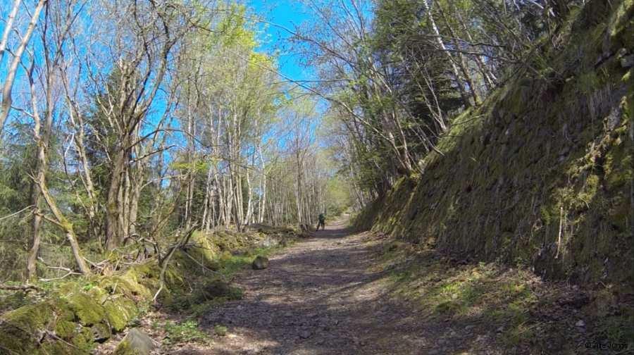 alte Bobbahn auf dem Weg zum Gipfel des Pöhlberg, dem 3. Gipfel beim Stoneman Miriquidi